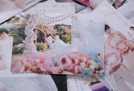 新郎新婦様からのメール 熊本の花嫁様より、シンデレラのドレスにあわせるバッグブーケ_a0042928_12331920.jpg