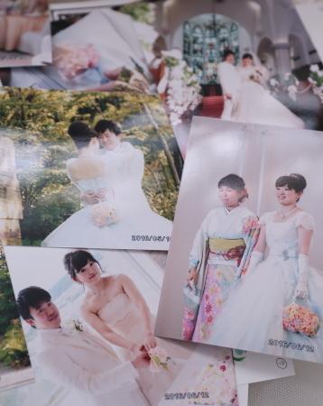 新郎新婦様からのメール 熊本の花嫁様より、シンデレラのドレスにあわせるバッグブーケ_a0042928_12332216.jpg
