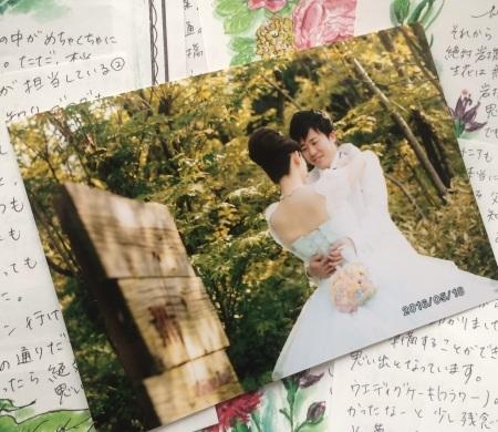 新郎新婦様からのメール 熊本の花嫁様より、シンデレラのドレスにあわせるバッグブーケ_a0042928_12565926.jpg