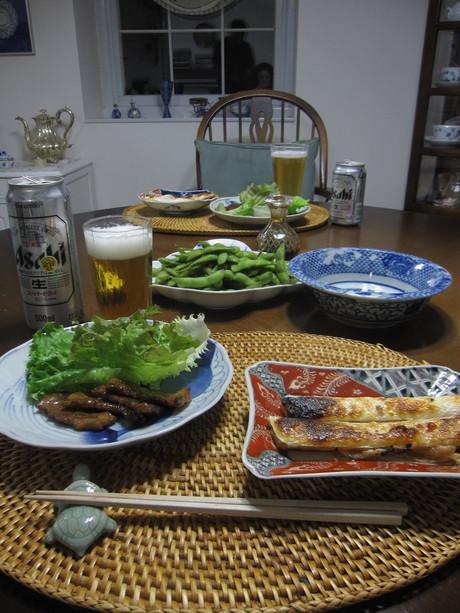 8月のお料理教室のレシピ作り&ポタジェの物で夕食_a0279743_8542182.jpg