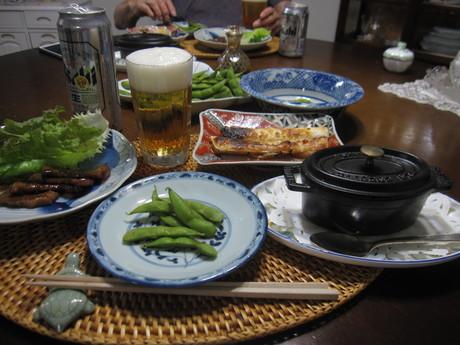 8月のお料理教室のレシピ作り&ポタジェの物で夕食_a0279743_8545987.jpg
