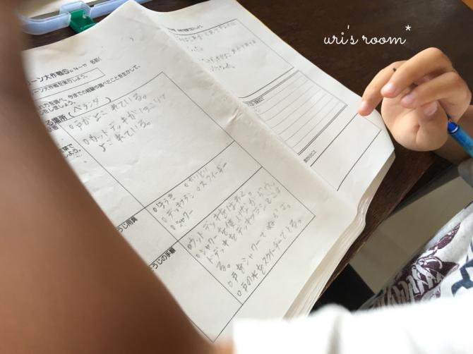 例のお気に入りキーホルダー。それから…いつもの息子の宿題あれやこれや。_a0341288_21505242.jpg