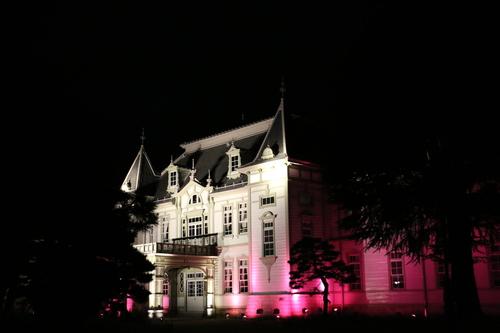 重文本館旧米沢高等工業学校本館のライトアップのテスト点灯、2日目・1_c0075701_2173462.jpg