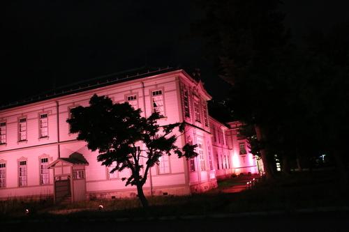 重文本館旧米沢高等工業学校本館のライトアップのテスト点灯、2日目・1_c0075701_2174335.jpg