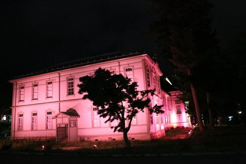 重文本館旧米沢高等工業学校本館のライトアップのテスト点灯、2日目・1_c0075701_2174553.jpg