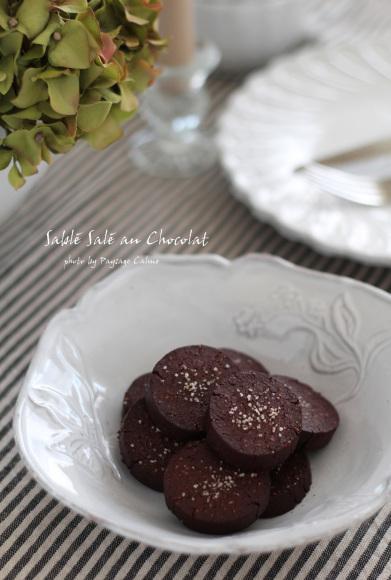 あくの強いチョコレートと塩味のクッキー : Paysage Calme