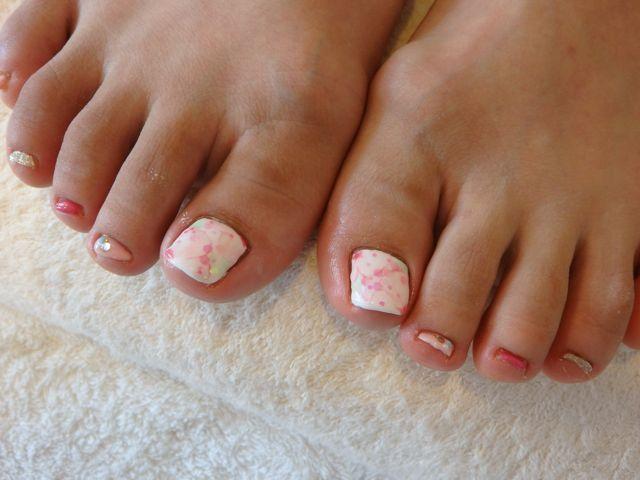 Flower Foot Nail_a0239065_17385500.jpg