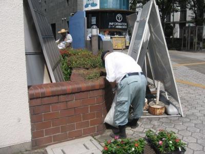 ガーデンふ頭総合案内所前花壇の植替えH28.8.17_d0338682_08591931.jpg