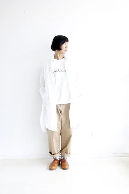 オリジナルコットンロングシャツ WHITE_f0215708_10391441.jpg