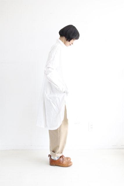 オリジナルコットンロングシャツ WHITE_f0215708_10391664.jpg