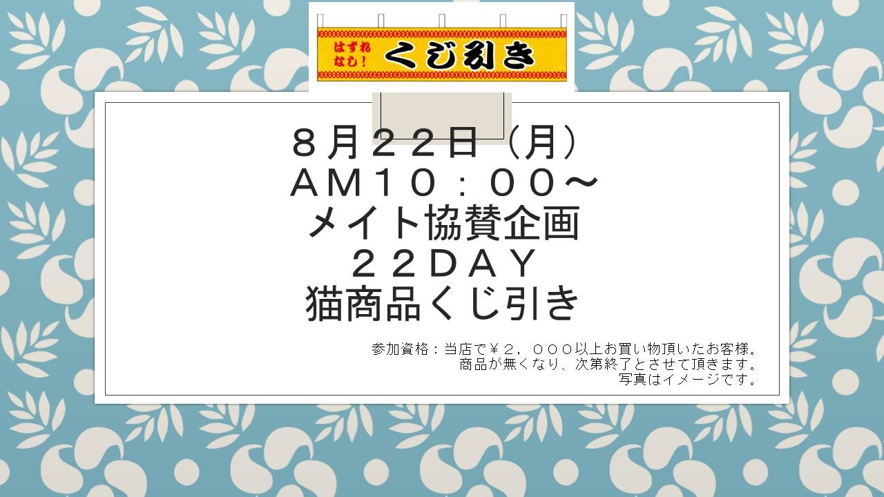 160819  22DAYイベント告知_e0181866_14532313.jpg