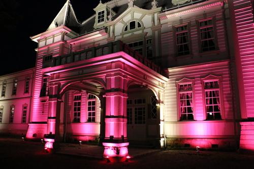重文本館旧米沢高等工業学校本館のライトアップのテスト点灯、2日目・1_c0075701_20544710.jpg