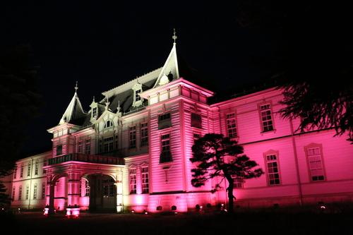 重文本館旧米沢高等工業学校本館のライトアップのテスト点灯、2日目・1_c0075701_20545086.jpg