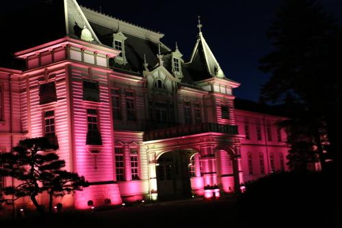 重文本館旧米沢高等工業学校本館のライトアップのテスト点灯、2日目・1_c0075701_20551373.jpg