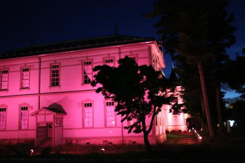 重文本館旧米沢高等工業学校本館のライトアップのテスト点灯、2日目・1_c0075701_2055721.jpg