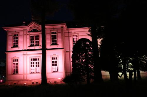 重文本館旧米沢高等工業学校本館のライトアップのテスト点灯、2日目・1_c0075701_2055997.jpg
