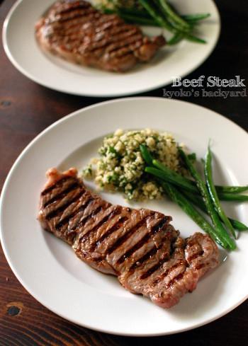 しましまステーキ&いんげん豆の炒め焼き_b0253205_00104620.jpg