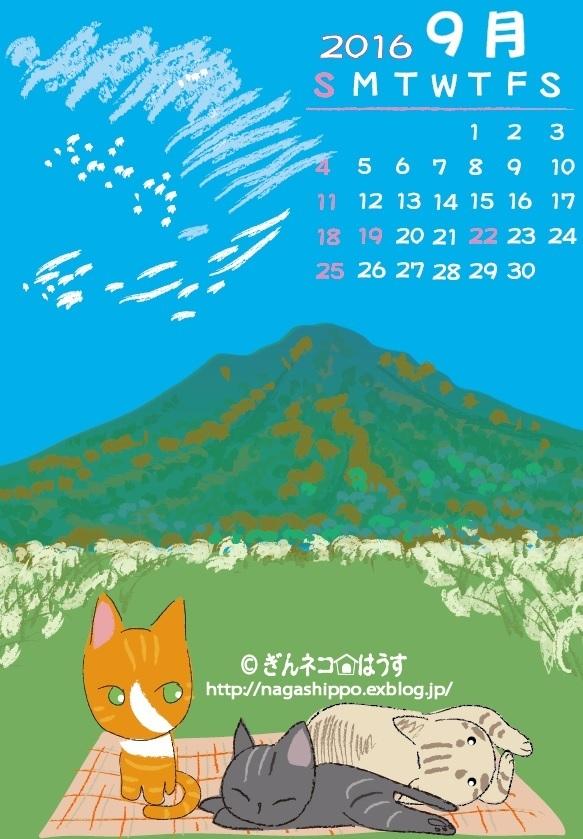 ぎんネコ☆はうすカレンダー9月_a0333195_21495923.jpg