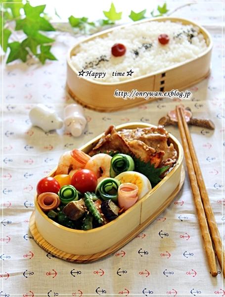 豚の生姜焼き弁当と自家製バゲットでホットドッグ♪_f0348032_18103621.jpg