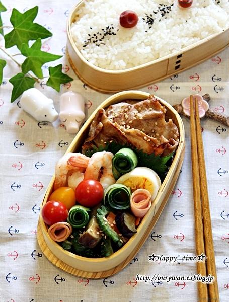 豚の生姜焼き弁当と自家製バゲットでホットドッグ♪_f0348032_18104581.jpg