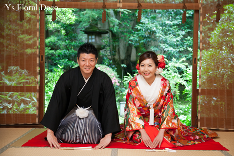 赤い色打掛にあわせるヘッドドレス 京都へ_b0113510_15283293.jpg