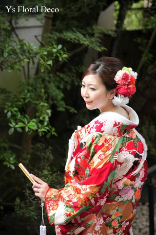 赤い色打掛にあわせるヘッドドレス 京都へ_b0113510_15290099.jpg