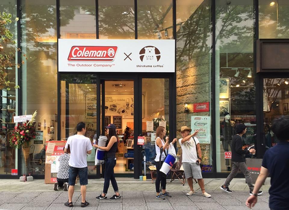 【お仕事】しろくまコーヒー+コールマンコラボカフェ@仙台店内装飾壁画制作。_a0039720_21171635.jpg