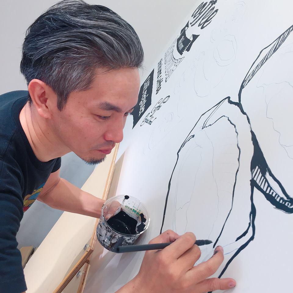 【お仕事】しろくまコーヒー+コールマンコラボカフェ@仙台店内装飾壁画制作。_a0039720_21171874.jpg