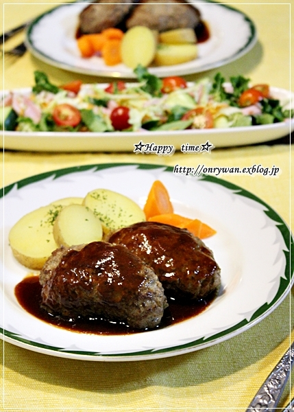 鮭と大葉の混ぜご飯弁当と今夜はハンバーグ♪_f0348032_18154487.jpg