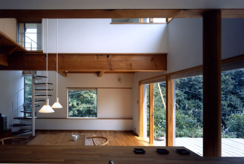オープンキッチンは視線軸を長くとる。_c0070136_11121305.jpg