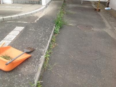 駐車場除草作業_c0186441_18162181.jpeg