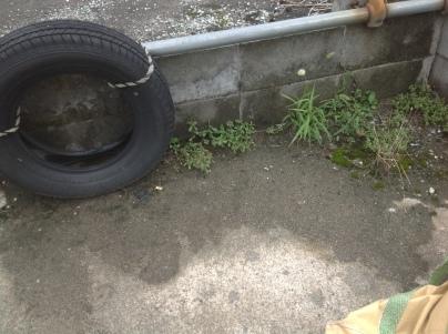 駐車場除草作業_c0186441_23513736.jpeg