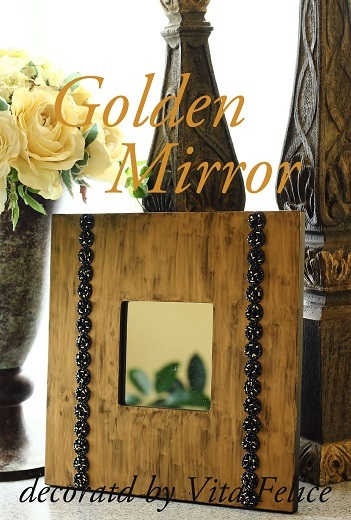 新作グルーデコART☆Golden Mirror☆_b0310144_09231759.jpg