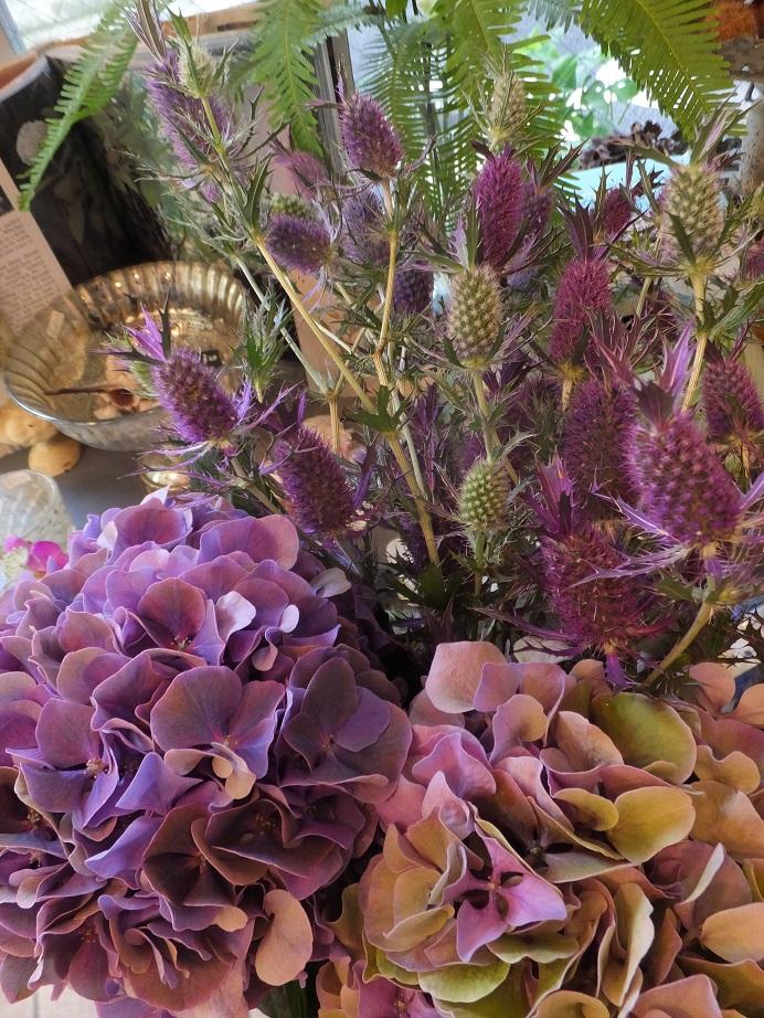 オークリーフ(秋色紫陽花とリーベンウォルシー)_f0049672_1720161.jpg