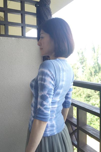木瓜の花 七分袖カットソー (1416)_e0104046_05394469.jpg