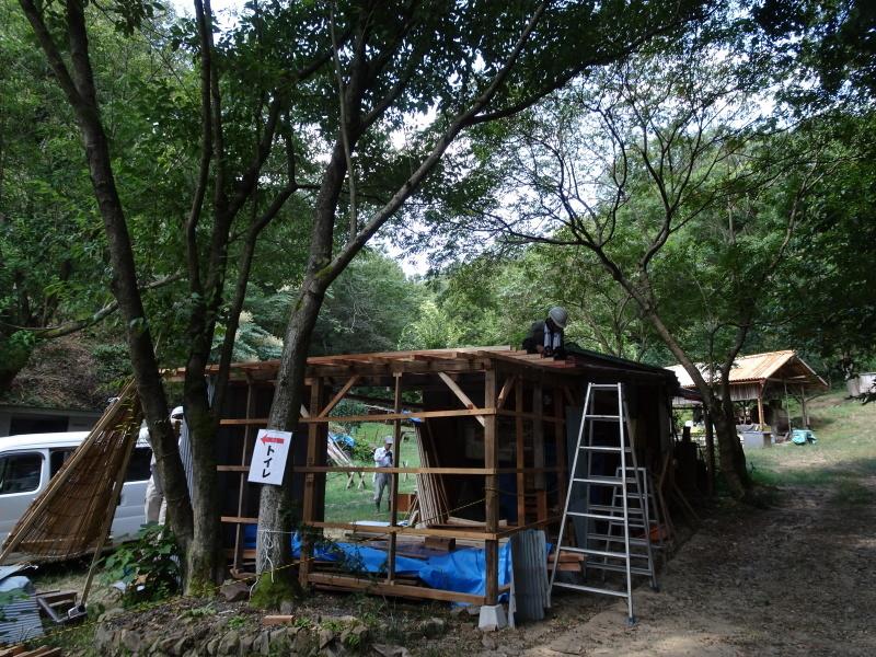 南尾根間伐 & 作業小屋作り・・・孝子の森_c0108460_20073843.jpg