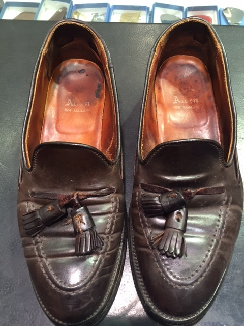 コードバンの靴は本当に水洗いはダメなのか?(実験)_b0226322_15092704.jpg