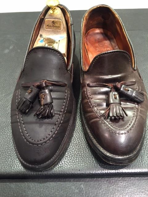 コードバンの靴は本当に水洗いはダメなのか?(実験)_b0226322_15251330.jpg
