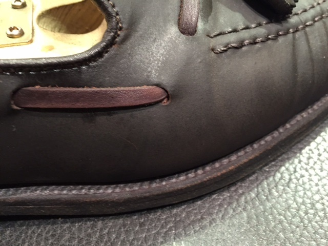 コードバンの靴は本当に水洗いはダメなのか?(実験)_b0226322_15270674.jpg
