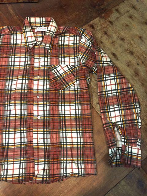 8/28(日)入荷!70s all cotton ! デッドストック ライトネルシャツ!_c0144020_13235178.jpg