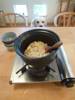 welcome 最後は土鍋トウモロコシごはんを♪_a0165160_11045233.jpg