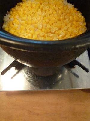 welcome 最後は土鍋トウモロコシごはんを♪_a0165160_11062400.jpg