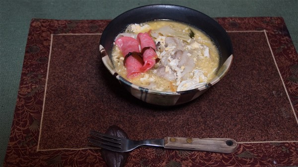 夕飯は豚肉丼_e0166355_19512343.jpg
