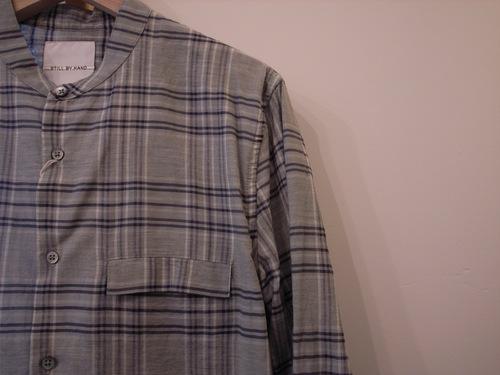 STILL BY HAND 綿/カシミア チェックシャツ_d0334060_1733262.jpg