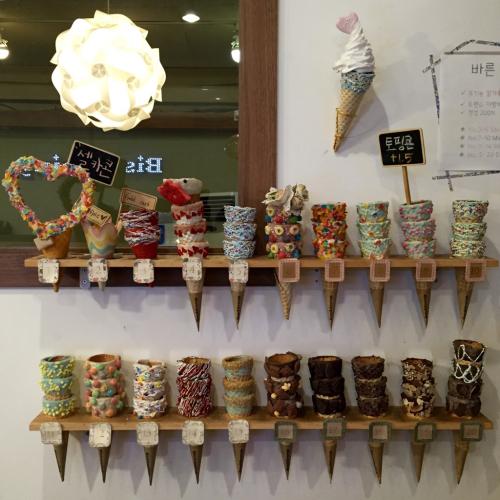 16年8月ソウル  5★可愛いソフトクリーム「Bistopping」@新沙_d0285416_19361845.jpg