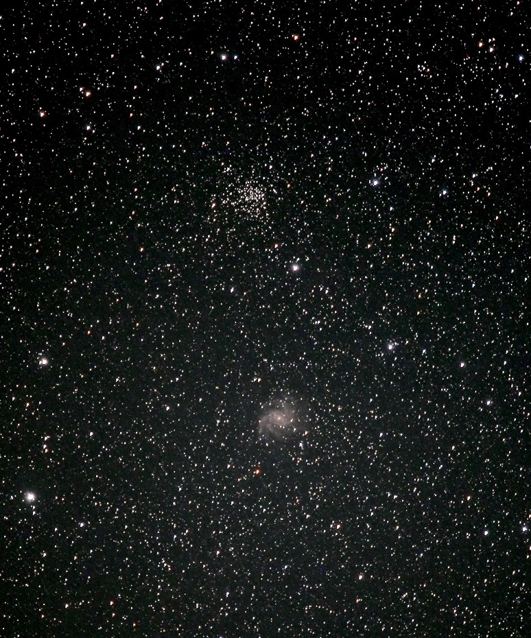 はくちょう~ケフェウス座境界部の散開星団(NGC6939)と系外星雲(NGC6946)_e0344621_14121670.jpg