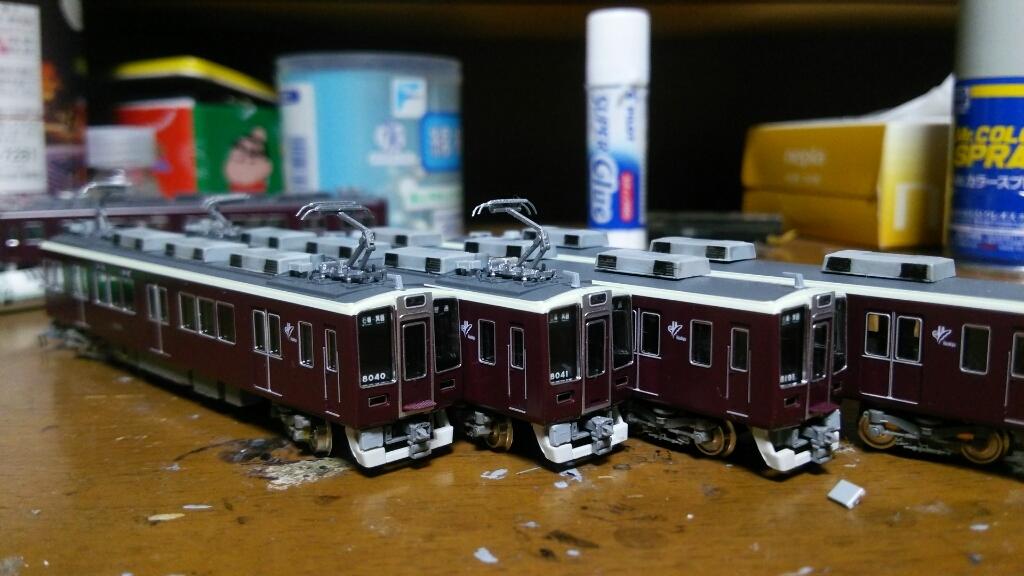 阪急8040F  箕面線  完成♪  鉄道模型_d0202264_18541037.jpg