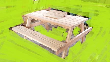 大工さんの造る BBQテーブルイスセット_a0128408_1627365.jpg
