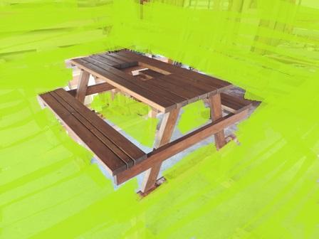 大工さんの造る BBQテーブルイスセット_a0128408_16274880.jpg