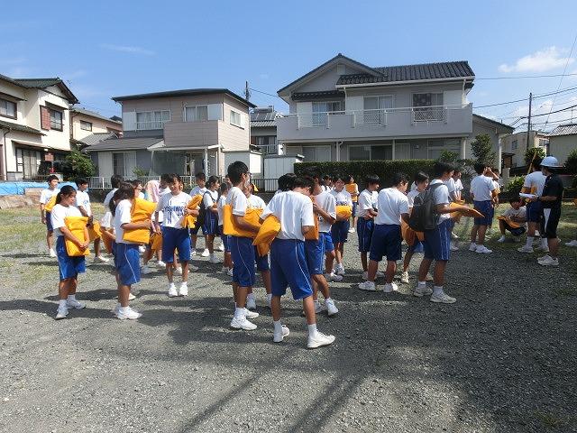9月1日は吉原二中生の受け入れと消火栓を使った放水訓練実施_f0141310_6172840.jpg